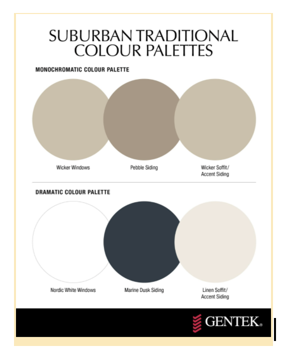 Suburban colours for home exterior