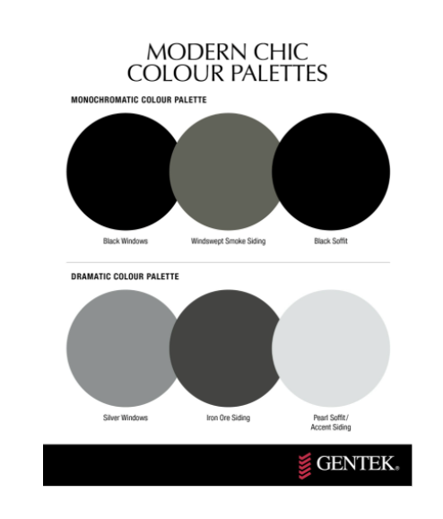 Modern chic colours for home exteriors